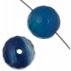 Agate Dyed Round 8mm 8In Strand Blue